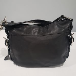 Coach Black Leather Hobo Shoulder Bag Purse